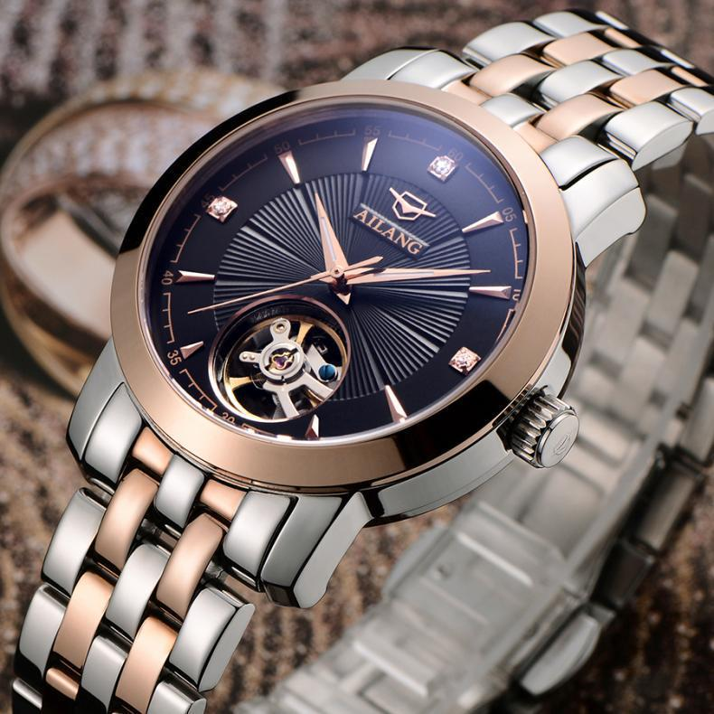 Original AILANG Businessmen Elegant Dress Watches Mechanical Self Wind Full Steel Wrist watch Hollow Analog Relojes 3ATM NW3298Original AILANG Businessmen Elegant Dress Watches Mechanical Self Wind Full Steel Wrist watch Hollow Analog Relojes 3ATM NW3298