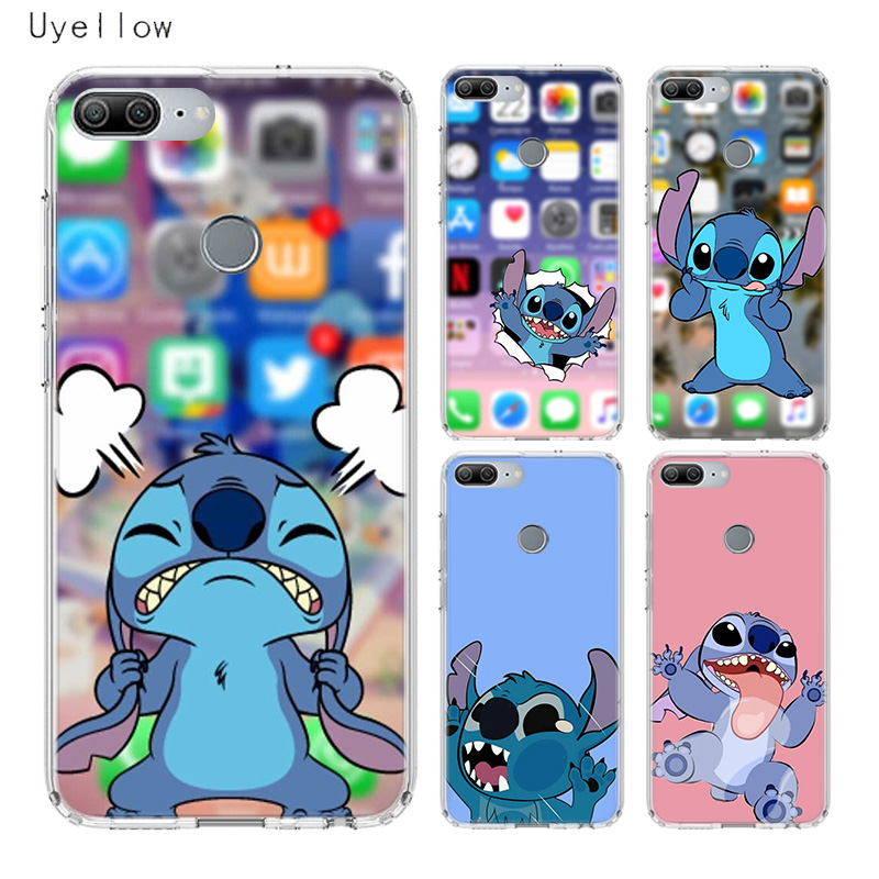 Uyellow Cartoon Cute Stitches Silicone Phone Case For Huawei Honor 8A 8X 8C 8S 9 10 20 lite Pro For Honor 20i V20 Cover Coqeu in Fitted Cases from Cellphones Telecommunications