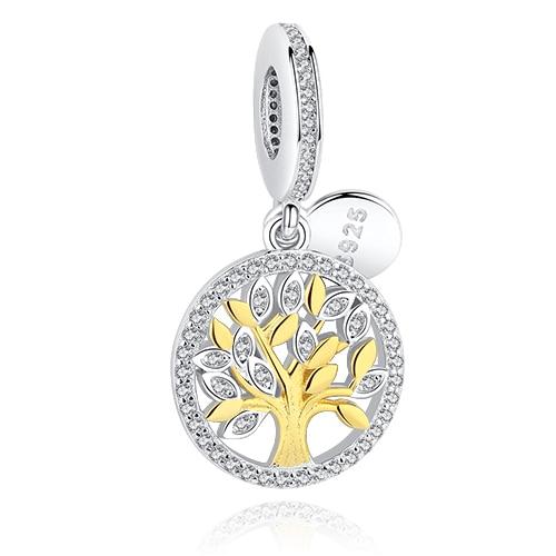 DIY Серебряный Шарм подходят Pandora браслет Бусины стерлингового серебра 925 Любовь мотаться Шарм crystal сердце, цветок, башня, дерево из бисера - Цвет: PY1410