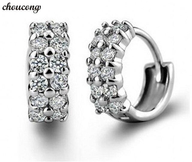Jewellery Fashion Lady 925 Sterling silver AAAAA Zircon Cz Dangle Earrings for women Party WeddingJewelry Gift
