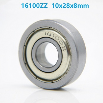 50pcs 16100ZZ 16100Z 16100 ZZ 10x28x8 mm metal shielded deep groove ball bearing for bicycle bottom bracket bearing 10*28*8