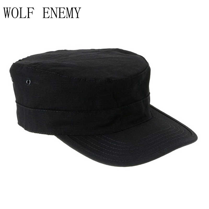 f841c2e711e Desert German Digital Woodland Black ACU Forest Camo Camouflage Military  Army Hunting Tactical Cap Caps Hat