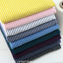 Italian classic Pinstripe striped cotton knitted fabric jersey clothing DIY dress making