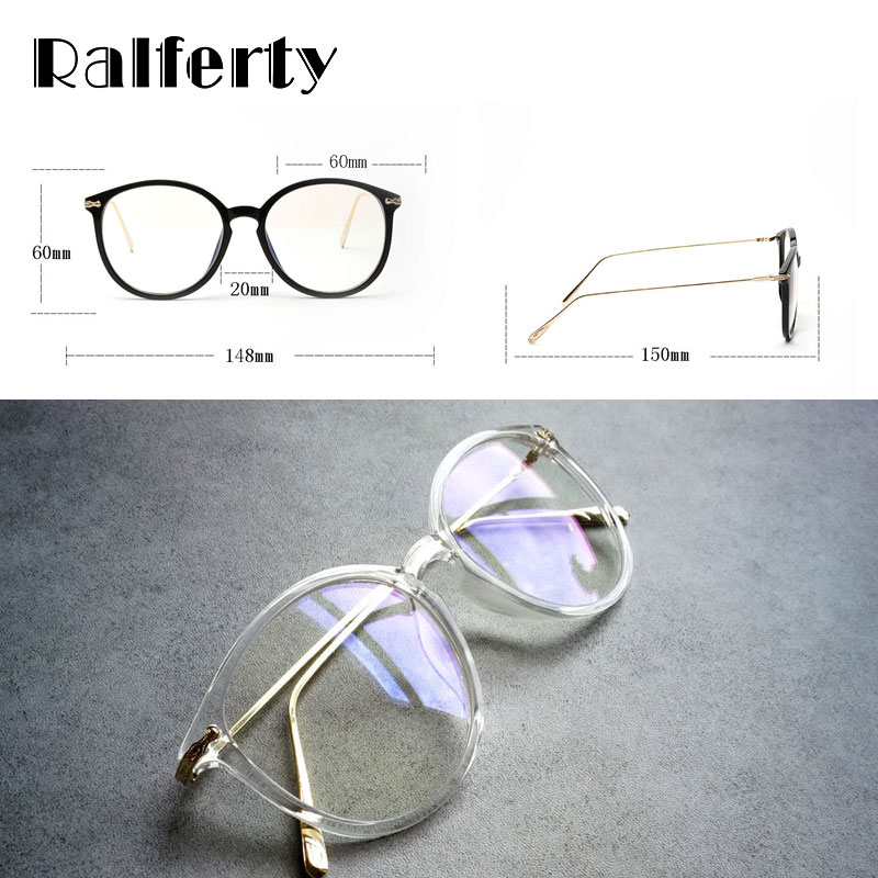 Ralferty Transparent Glasses Frame With Clear Lens Oversized Oval - Apparel Accessories - Photo 3