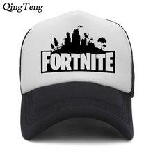 f15ce53ba127e Fortnite Snapback Mesh Baseball Cap Summer Game Fortnite Fans Hats For Men  Women Hip Hop Skateboard