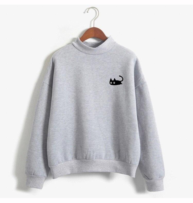 new mama winter pullover female sweatshirt cute cartoon cat O neck long sleeve woman sweatshirt hot sales in Hoodies amp Sweatshirts from Women 39 s Clothing