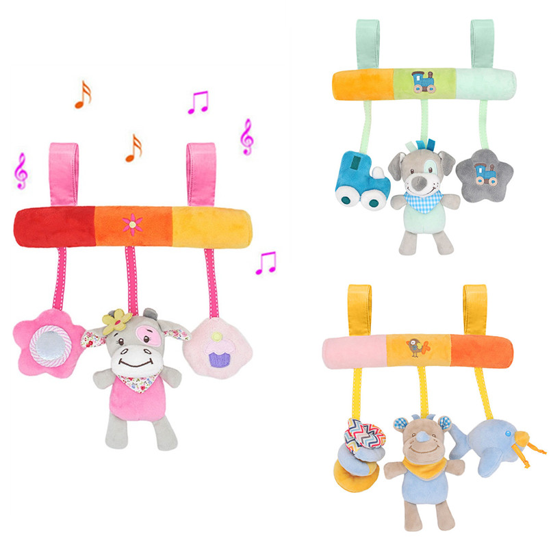 Toys For Stroller Rattles Bed Baby Toys 0-12 Months Newborn Music Educational Bebek Oyuncak Crib Mobile For Kids Soft