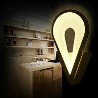 Настенная кровать освещение Современная короткая светодио дный акриловая светодиодная настенная лампа