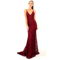 Sexy Shiny Dress With Open Back Long Dress Elegant Red Summer Vintage Sexy Lace Bandage Dinner Dresses Plus Size Clothes 2019
