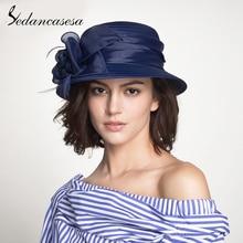 Sedancasesa, элегантные регулируемые шляпы с широкими полями для женщин, ручная работа, большие цветы, пляжная летняя солнцезащитная кепка, s кепка, переносная шляпа от солнца