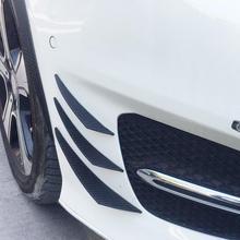 6Pcs Universal Car Body Front Bumper Fins Lip Canards Spoiler Canard Splitter цена и фото