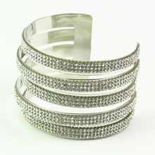 rhinestone cuff bracelets for women carters bangles gold silver color h love bracelet femme jonc inspirational jewelry
