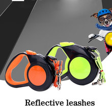 Retractable Leashes Pet Supplies Small Large Dog Reflective Traction Belt Traction Dog Traction Rope Pet Nylon Traction Belt