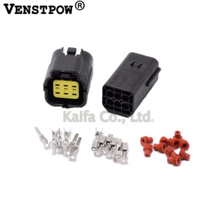 10 set Car Waterproof 6 Pin Electrical Wire Connector Plug AWG Car Motorcycle Marine male and female