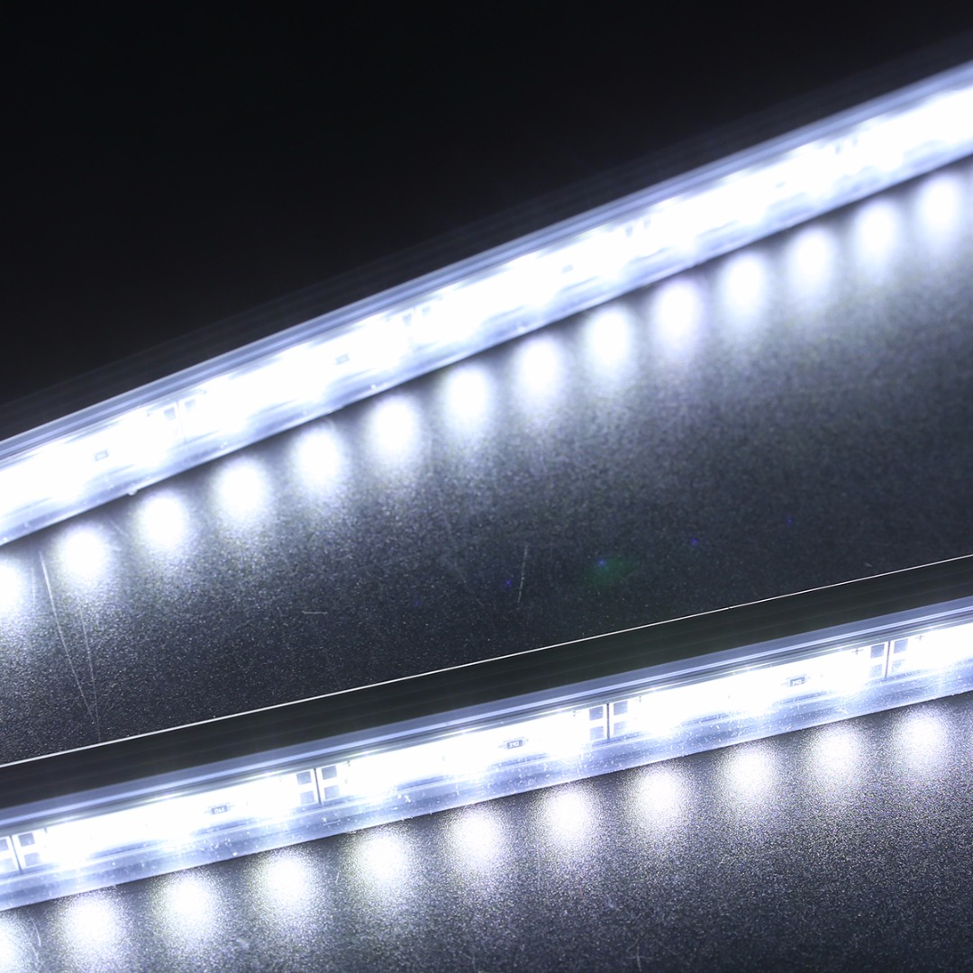 2Pcs 24LED SMD 5730 Car Interior Light Bar Tube Strip Lamp Van Boat Caravan 12V