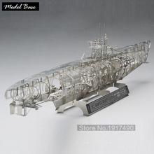 3d Puzzles Silver Jigsaw Puzzles Metal Games For Kids German Submarines In The Whole Skeleton Structure Iq Puzzle Scale 1/350