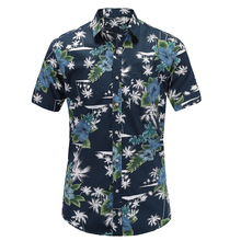 Dioufond New Short Sleeve Men Shirts Casual Print Top Floral 2019 Summer Fashion Beach Hawaiian Clothing