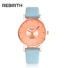2017 New Fashion Women Watch Rose Gold Dial Watches Ladies Dress Leather Strap Wristwatch Female Clock Relogio Feminino Luxury