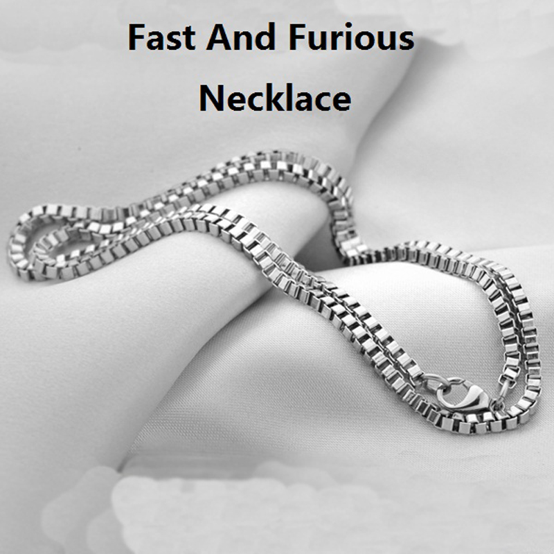 The Fast And Furious 8 Pure 925 Sterling Silver Chain Necklace For Vin Diesel Men Dominic Toretto Women Drop Ship ReplicaJewelry-in Necklaces from Jewelry & Accessories    1