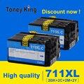 Toney universal (король 711 совместимый картридж с чернилами для HP 711 для HP 711 XL 711XL Designjet T120 T520 24-in ePrinter патронов чернил принтера