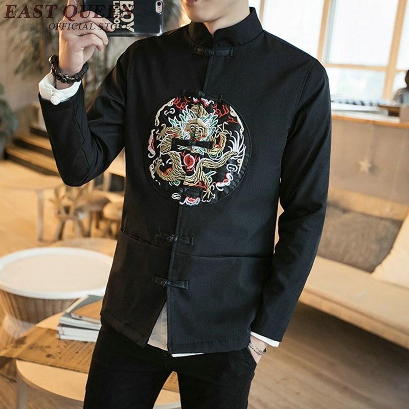 Vêtements chinois traditionnels pour hommes costume tang costume brodé dragon bomber veste col mandarin cheongsam KK569 W