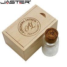 JASTER продвижение лазерная гравировка 64 Гб внешний хранения дрейфующих бутылка usb + коробка 2,0 32 16 8 4 флэш накопитель