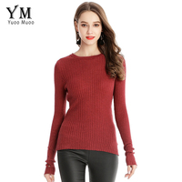 YuooMuoo New Spring Autumn Slim Basic Elastic Tight Sweater Pullovers Casual Long Sleeve Knitted Striped Sweaters