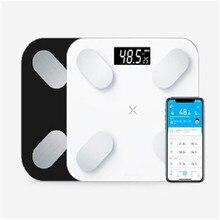 Весы для тела и жира, умный электронный светодиодный весы для ванной, Bluetooth, приложение для Android/IOS, xiaomi mi 2 USB