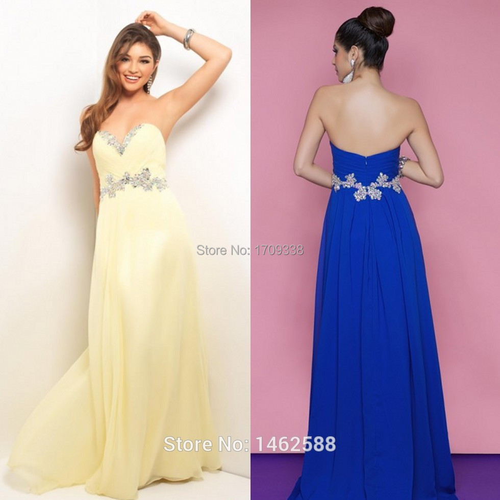 Magnífico Amarillos Largos Vestidos De Dama Foto - Colección del ...
