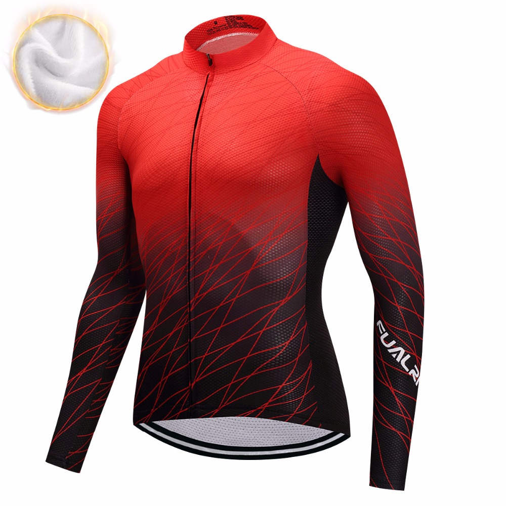 Ferny Winter 2018 Long Pro Equipment Polar Cycling Jersey Men Bicycle Clothes Maillot Cycling Bike Clothes # ZR-03