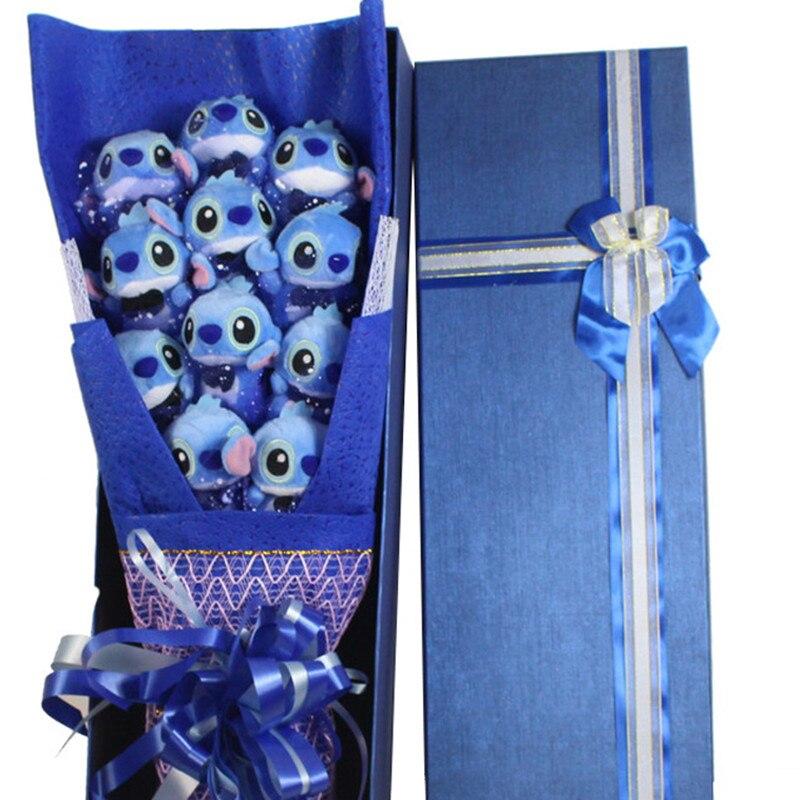 Fleurs artificielles pour la décoration bouquet de mariage kawaii mini Peluche Lilo point jouets pour bouquets Amour du Jour de Valentine Rose
