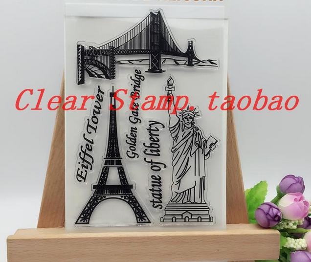 DIY Scrapbook Albums Statue Liberty Rubber Stamp Constellation Album PDA Wedding Seal Transparent Seal Eiffel Tower Clear Stamps twice 1st album twicetagram all version set 3 albums set release date 2017 11 01