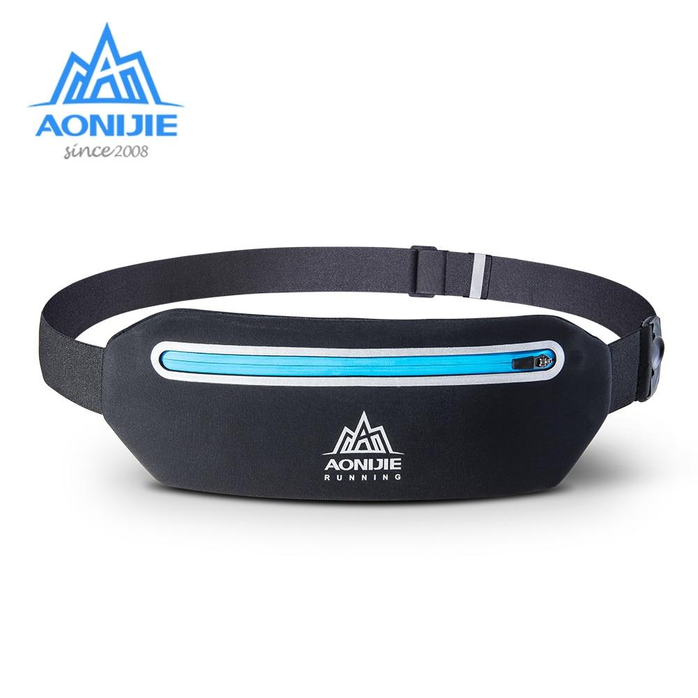 AONIJIE W922 Adjustable Slim Running Waist Belt Jogging Bag Fanny Pack Travel Marathon Gym Workout Fitness 6.8-in Phone Holder