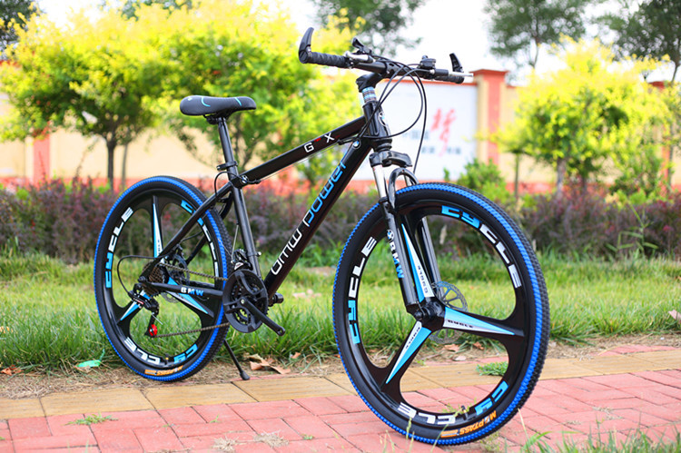 Mountain bike 26-inch steel 24-speed High-carbon steel dual disc brakes variable road bikes sports bike(China)