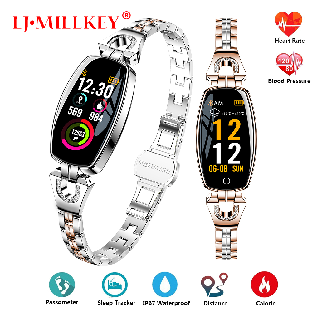 Smart Watch Women 2019 Waterproof Heart Rate Monitoring Bluetooth For Android IOS Fitness Bracelet SmartwatchSmart Watch Women 2019 Waterproof Heart Rate Monitoring Bluetooth For Android IOS Fitness Bracelet Smartwatch