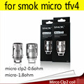 original smok micro clp2 0.6ohm 1.8ohm patented fused clapton dual core for micro tfv4 fit smok electronic hookah 5pcs/lot
