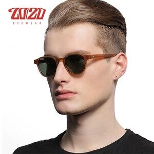 Image 2 - Classic Polarized Men Sunglasses Women Brand Designer Acetate Round Sun Glasses Driving Shades Unisex Eyewear Oculos AT8001