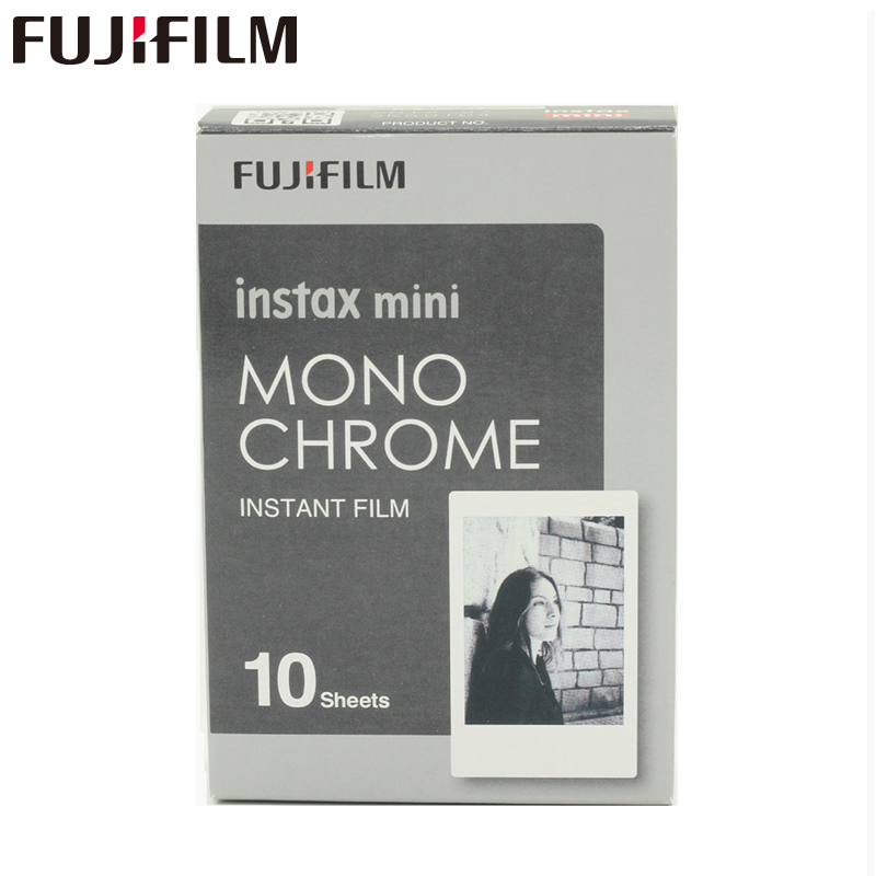 Original Fujifilm Fuji Instax Mini 8 Monochrome Film 10 Sheets For 7 7s 8 9 50s 7s 90 25 Share SP-1 Instant Cameras New arrive