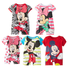 Short Sleeve Baby Mickey Rompers