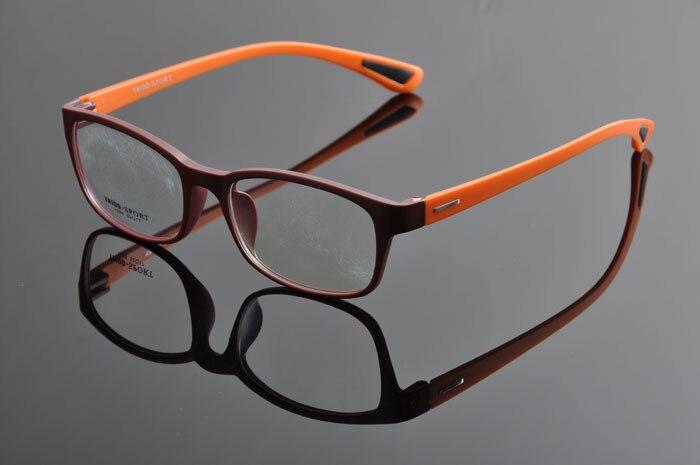 TR90 спортивные полный кадр очки ультра легкий Play для верховой езды очки для близорукости оправы для очков Для мужчин DD0876 - Цвет оправы: brown orange