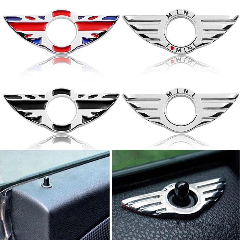 1pcs Door Pin Lock Wing Emblem Badge Zinc Alloy Stickers For BMW MINI Cooper S R53 R55 R56 R57 R58 R59 F55 F56 Car Accessories