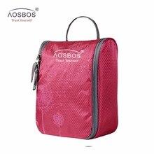 Aosbos Waterproof necessaries Makeup organizer Toiletry bag women men Travel kits make up Cosmetic Bags organizador
