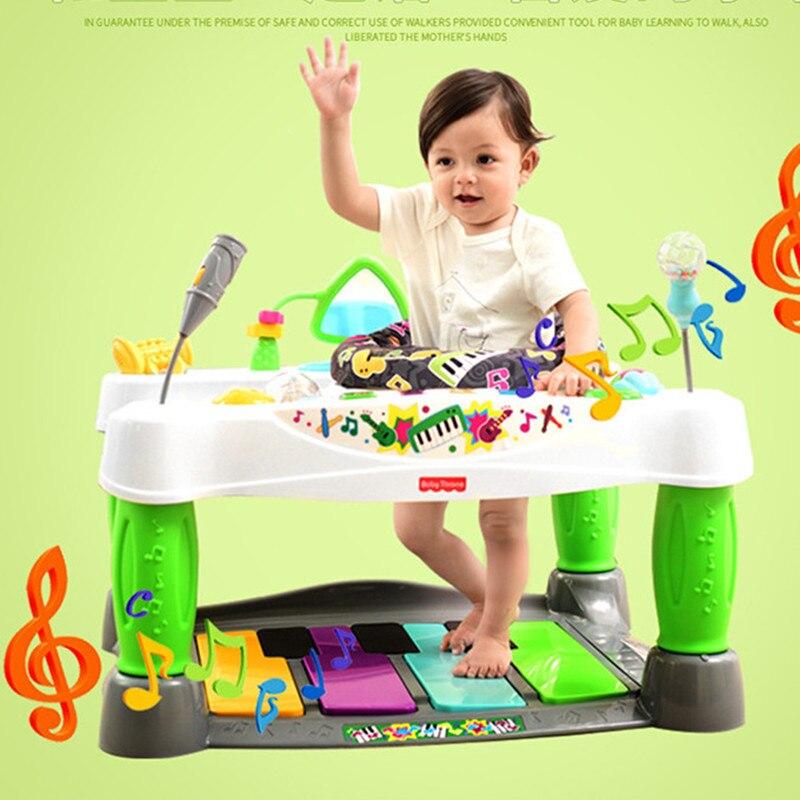 2017 tout nouveau bébé multifonctionnel luxe Piano Walker enfants jouets musique Piano Fitness paquet 6-36 mois livraison directe gratuite