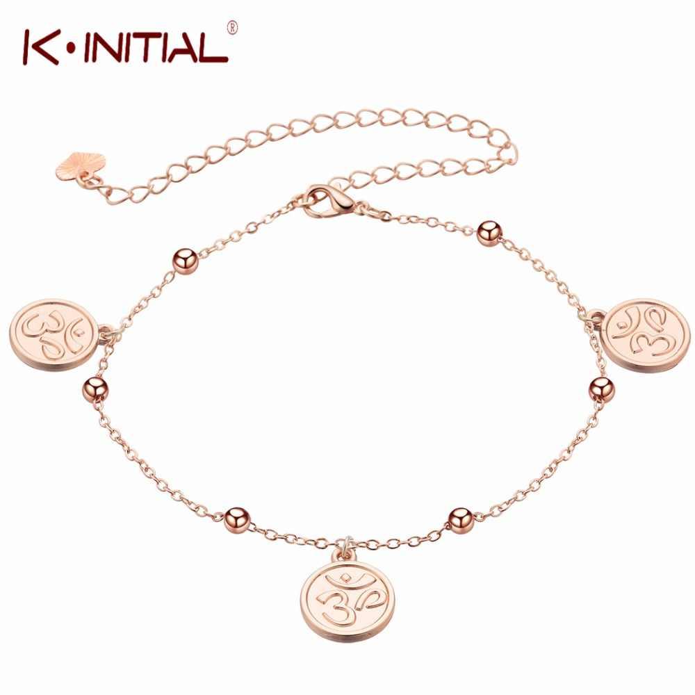 Модные 3 символ ом женские браслеты для щиколотки пляжные ботильоны браслеты для сандалий обувь для невест на босу ногу подарки круглый диск висячие украшения