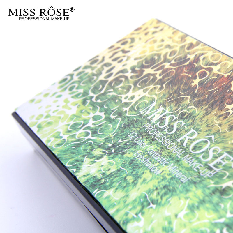2016 MISS ROSE Shimmer 14colors diamond bright colorful eye shadow super flash paleta Glitter eyeshadow pallete matte Eyeshadow