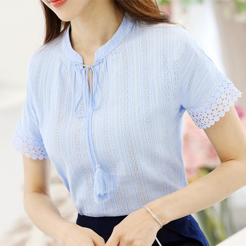 Foxmertor 100 cotton shirt short sleeve 2017 summer women for 100 cotton dress shirt