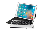 Ultra Thin Detachable Metal Wireless Bluetooth Keyboard Dock Case Stand Leather Smart Cover For Apple IPad