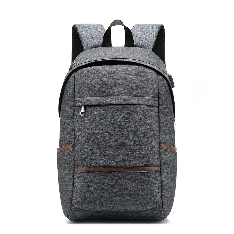 USB Backpacks For Men Waterproof Backbag Laptop Backpack Casual Business Bag Large Capacity Bag Male Gray Black Travel Bags