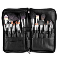 MSQ 32Pcs 1 Set Pro Animal Hair Brush Foundation Eye Shadow Makeup Brush With PU Bag