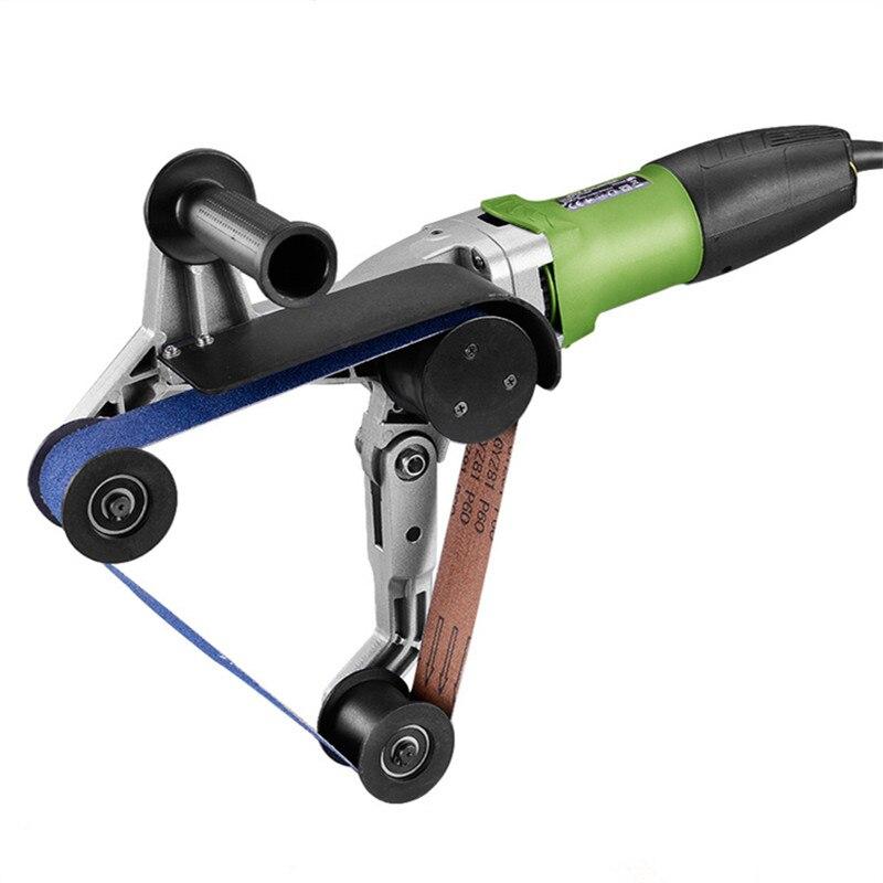 Cintura tubo Sanders Lucidatore, Portatile di Macinazione Lucidatura Macchina Per Tubo di Acciaio inox Lavorazione di Lucidatura Strumento